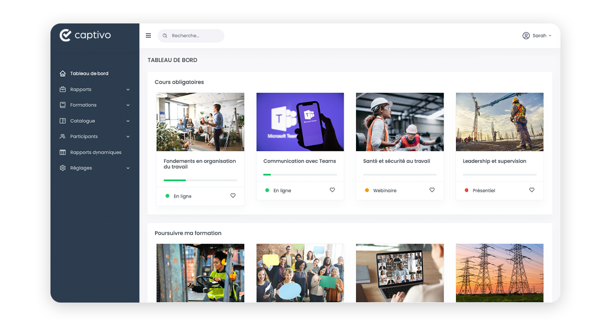 Captivo LMS: centralize all your learning activities